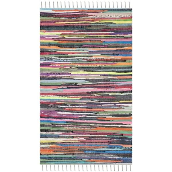 Shop Safavieh Hand-Woven Rag Rug Grey/ Multi Cotton Rug