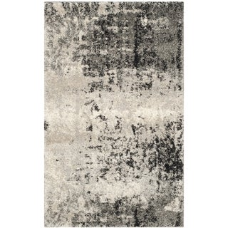 Safavieh Retro Modern Abstract Light Grey / Grey Distressed Rug (2' 6 x 4')