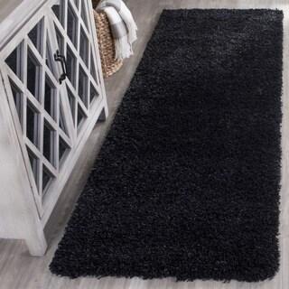 """Safavieh California Cozy Plush Black Shag Rug - 2'3"""" x 5'"""