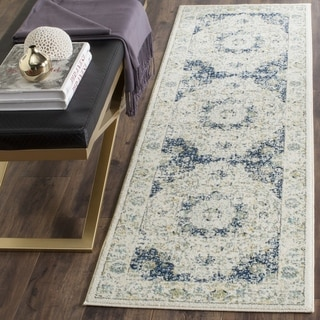 Safavieh Evoke Vintage Oriental Ivory / Blue Distressed Rug (2' 2 x 9')