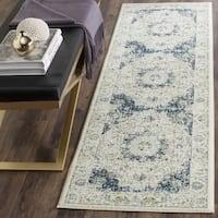 "Safavieh Evoke Vintage Oriental Ivory / Blue Distressed Rug - 2'2"" x 9'"
