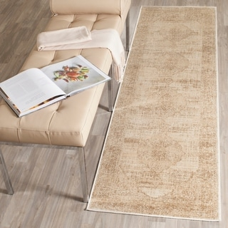 Safavieh Vintage Oriental Cream Distressed Silky Viscose Rug (2' 2 x 8')
