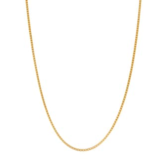 Gioelli Goldplated Sterling Silver Classic 20-inch Box Chain Necklace