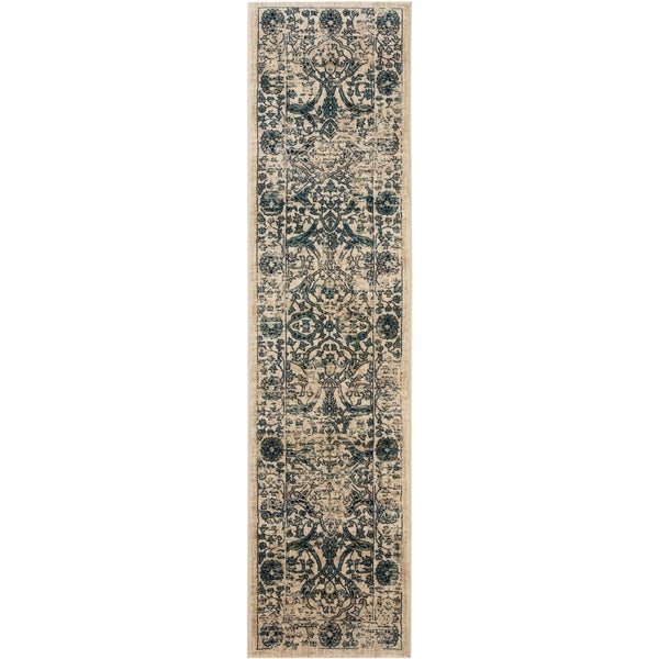 Safavieh Evoke Vintage Oriental Beige/ Blue Distressed Rug (2' x 10')