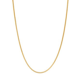 Gioelli Goldplated Sterling Silver Classic 24-inch Box Chain Necklace
