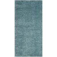 Safavieh Milan Shag Aqua Blue Rug (2' x 4')