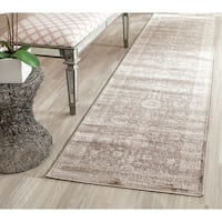 Safavieh Vintage Oriental Brown/ Ivory Distressed Rug - 2' 2 x 12'
