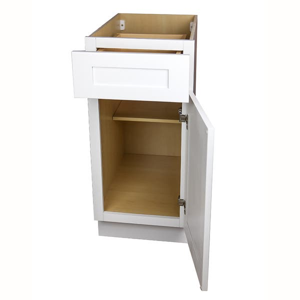 White Shaker Kitchen Base Cabinet