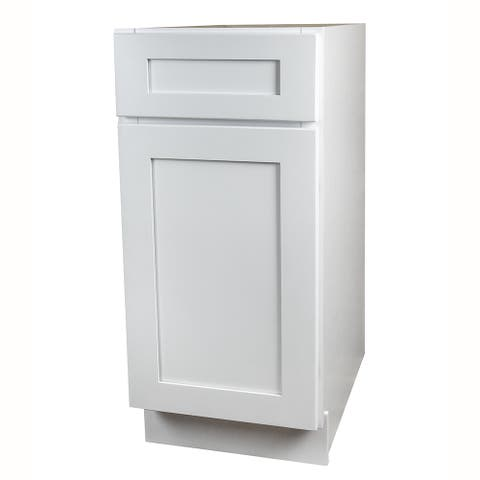 White Shaker Kitchen Base Cabinet