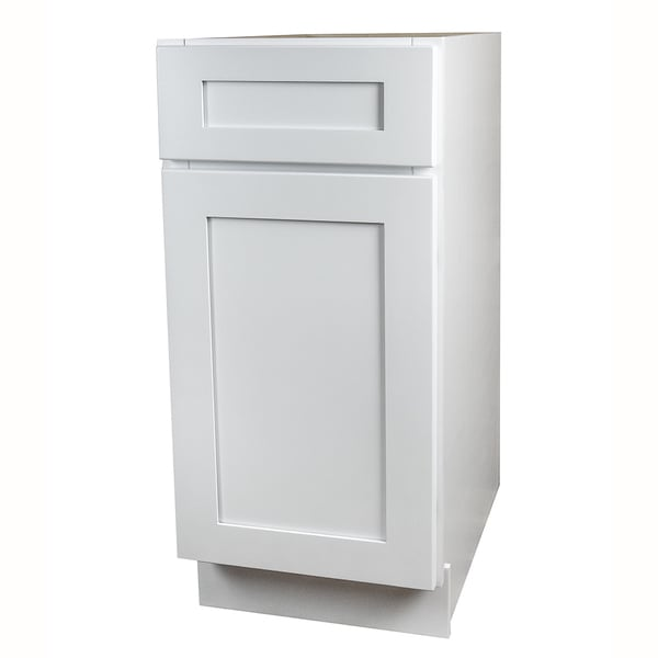 White shaker kitchen base cabinet free shipping today for 40 kitchen cabinets