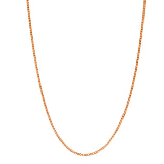 Gioelli Rose Goldplated Sterling Silver Classic Box 20-inch Chain Necklace