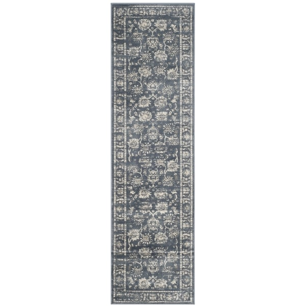 Safavieh Vintage Oriental Dark Grey/ Cream Distressed Rug - 2'2 x 8'
