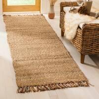 Safavieh Casual Natural Fiber Hand-Woven Natural/ Multi Jute Rug (2' 6 x 10')