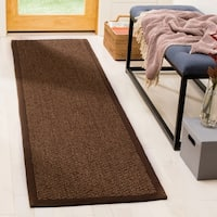 Safavieh Casual Natural Fiber Hand-Woven Chocolate Sisal Rug - 2'6 x 10'