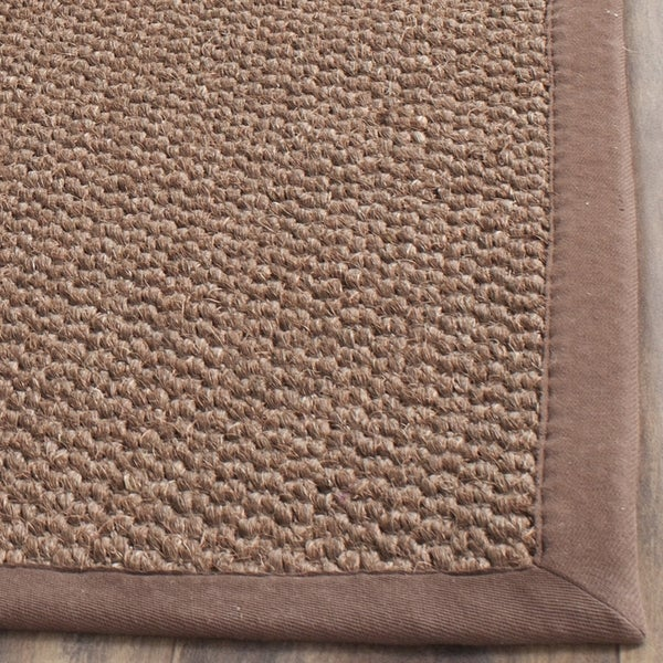 Safavieh Casual Natural Fiber Hand Woven Chocolate Sisal