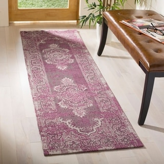 Safavieh Palazzo Light Grey Anthracite/ Purple Overdyed Runner Rug (2' x 7'3)