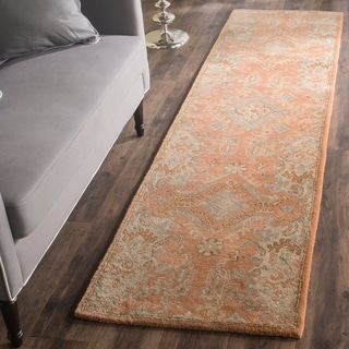 Safavieh Handmade Wyndham Terracotta Wool Rug (2' 3 x 13')