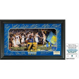 Golden State Warriors 73 Win Record 'Signature Celebration' Framed Photo