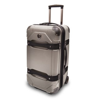 Traveler's Choice Maxporter 24-inch Polycarbonate Hardside Rolling Trunk Suitcase