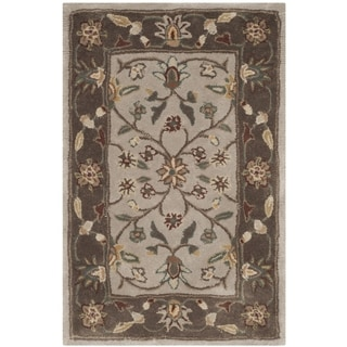 Safavieh Hand-hooked Total Perform Ivory/ Taupe Acrylic Rug (2' x 3')