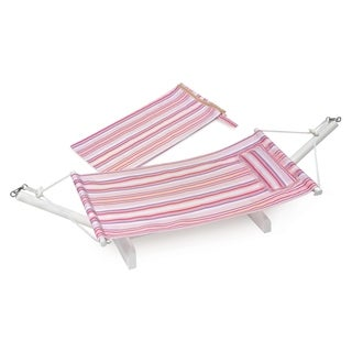Badger Basket Portable Doll Hammock with Travel Bag Multi/Stripe