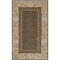 Safavieh Hand-hooked Total Perform Olive/ Ivory Acrylic Rug - 2' X 3'
