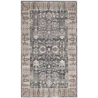 Safavieh Valencia Dark Grey/ Light Grey Distressed Silky Polyester Rug (2' x 3')
