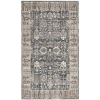 Safavieh Valencia Dark Grey/ Light Grey Distressed Silky Polyester Rug - 2' X 3'