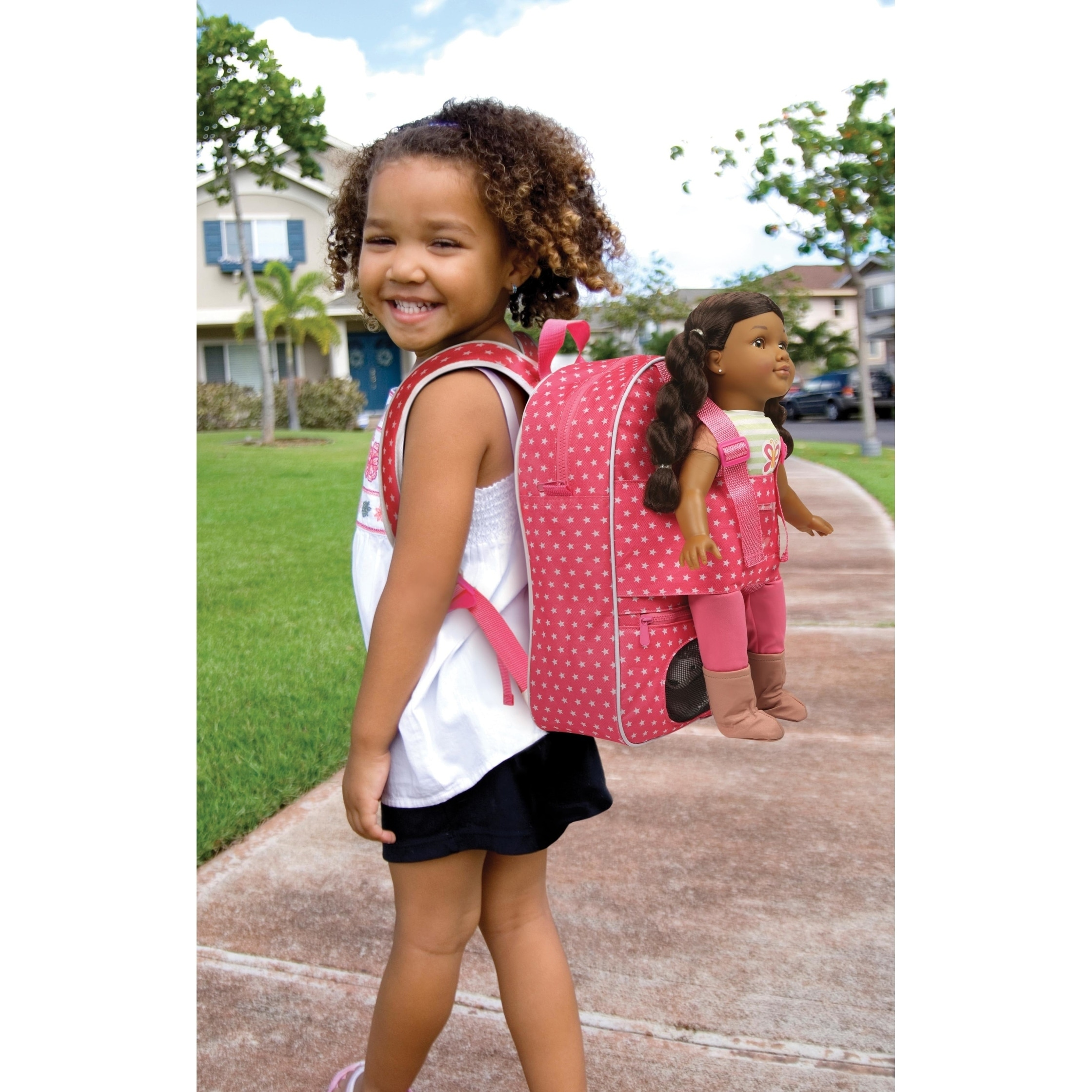Badger Basket Doll Travel Backpack with Plush Friend Comp...