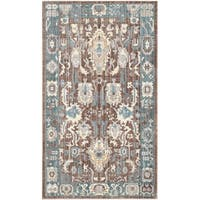 Safavieh Valencia Chocolate/ Alpine Distressed Silky Polyester Rug - 2' x 3'