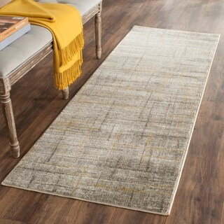 Safavieh Porcello Modern Abstract Grey/ Dark Grey Rug (2' 4 x 9')