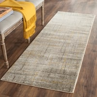Safavieh Porcello Modern Abstract Grey/ Gold Rug - 2'4 x 9'