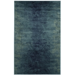Safavieh Vintage Watercolor Turquoise/ Multi Distressed Silky Viscose Rug (2' 7 x 4')