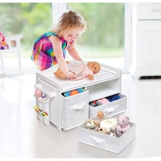 Badger Basket Doll Care Station White Rose