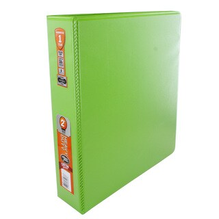 Wilson Jones 2-inch Chartreuse Heavy Duty Round Ring View Binders with Extra Durable Hinge (Set of 6)