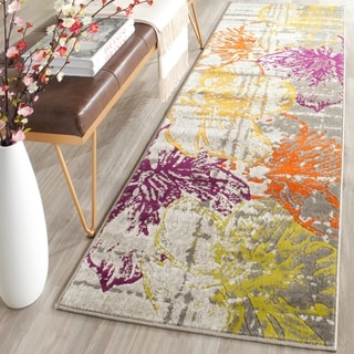 Safavieh Porcello Contemporary Floral Ivory/ Grey Rug (2' 4 x 9')