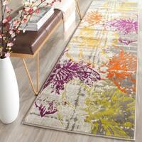 Safavieh Porcello Contemporary Floral Ivory/ Grey Rug - 2'4 x 9'