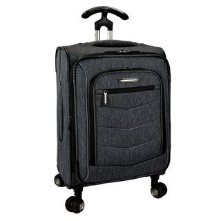 Travelers Choice Silverwood 21-inch Expandable Carry On Spinner Upright Suitcase