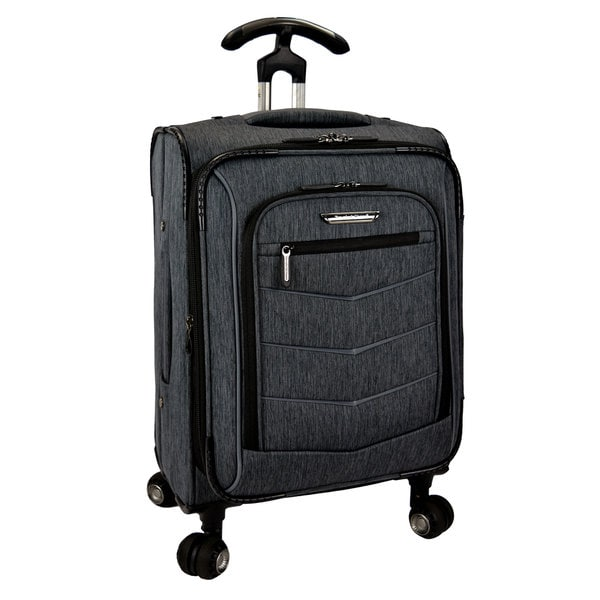 04f3328d5 Travelers Choice Silverwood 21-inch Expandable Carry On Spinner Upright  Suitcase