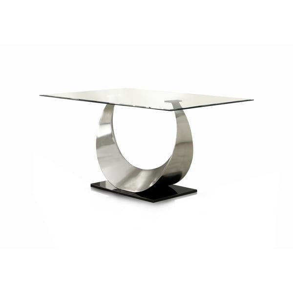 Furniture of America Heer Contemporary Silver 60-inch Dining Table. Opens flyout.