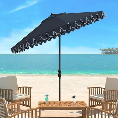 SAFAVIEH Elegant Valance 9-foot Umbrella
