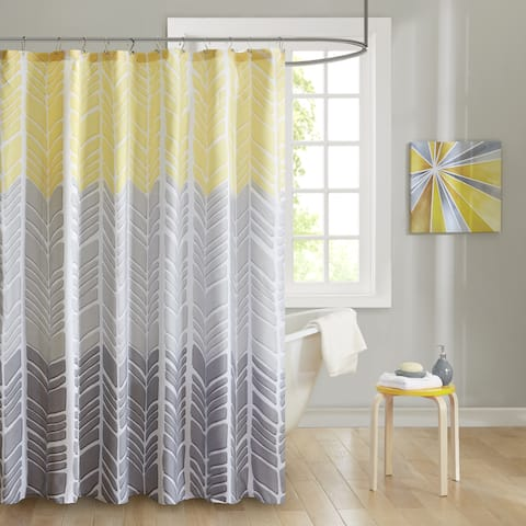 Carson Carrington Liseleje Printed Shower Curtain 2-Color Option