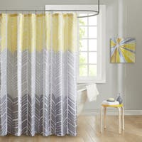 Intelligent Design Kennedy Printed Shower Curtain 2-Color Option
