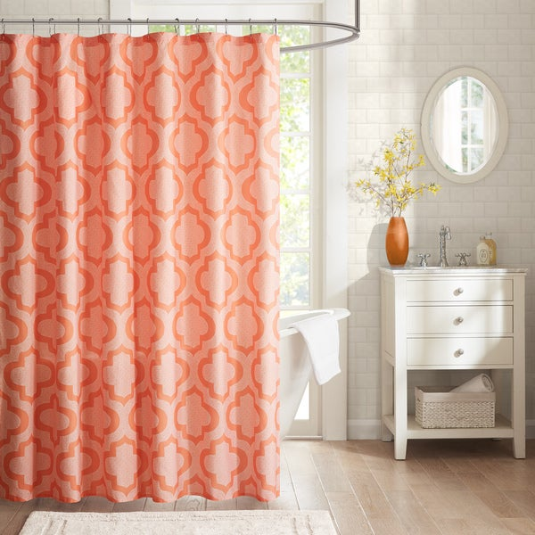Intelligent design elena printed shower curtain free - Intelligent shower ...
