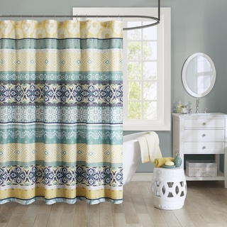 The Curated Nomad Lyon Printed Bohemian Shower Curtain