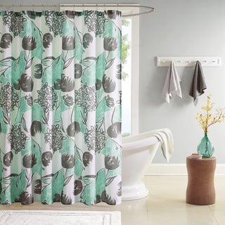 Intelligent Design Lily Printed Shower Curtain