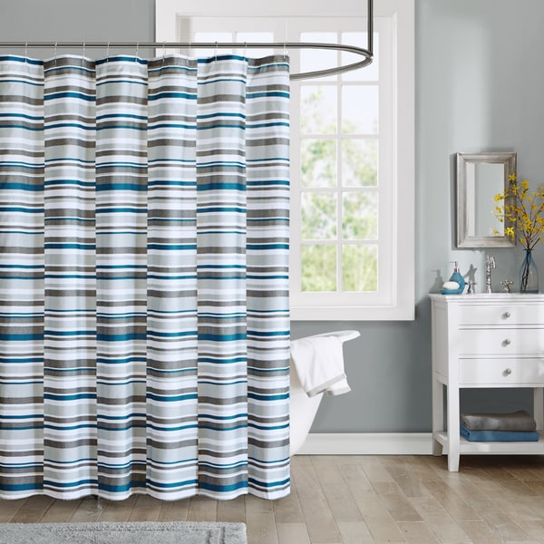Intelligent design wyatt printed shower curtain free - Intelligent shower ...
