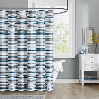 Intelligent Design Wyatt Printed Shower Curtain