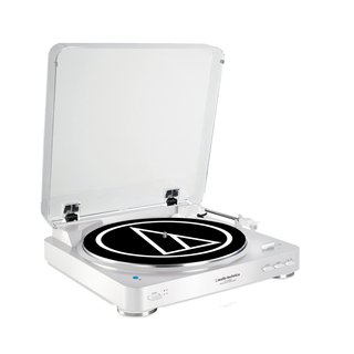 Audio Technica AT-LP60WH-BT Fully Automatic Bluetooth Wireless Belt-Drive Stereo Turntable (White)