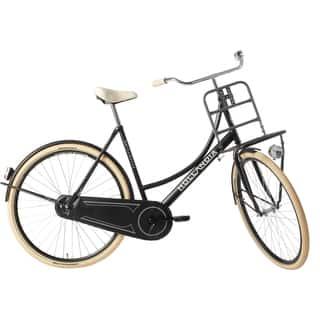 Hollandia Transport Black 700C City Dutch Bicycle|https://ak1.ostkcdn.com/images/products/11730326/P18648611.jpg?impolicy=medium